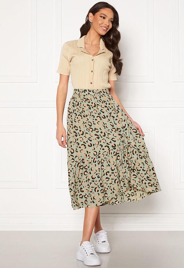 Pieces Dua HW Midi Skirt Desert Sage
