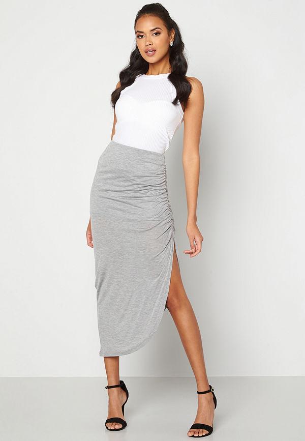 Ichi Luna Skirt Grey melange
