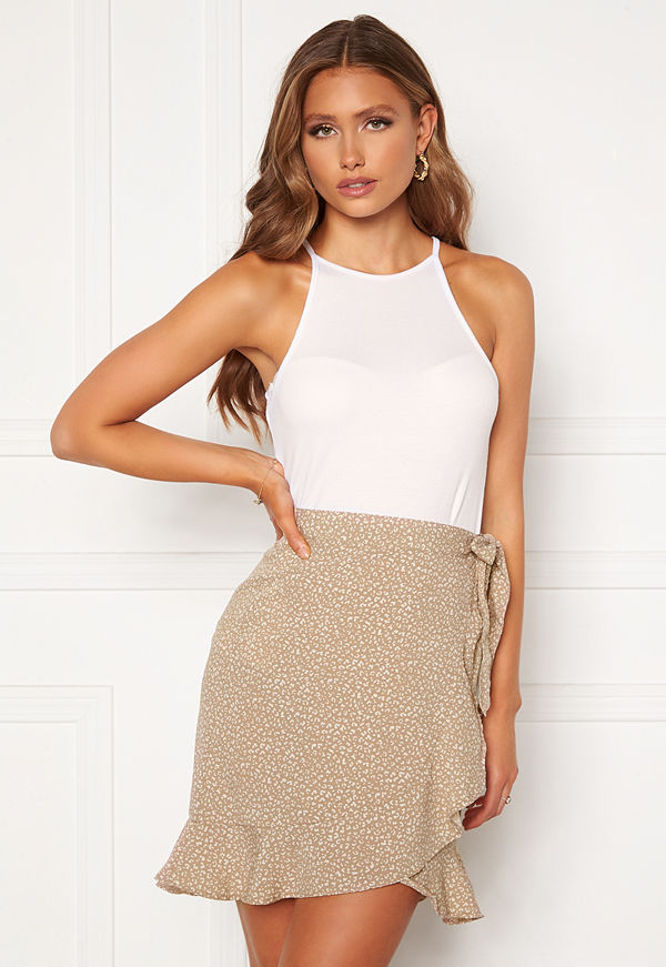 Bubbleroom Ruthie high neck top White