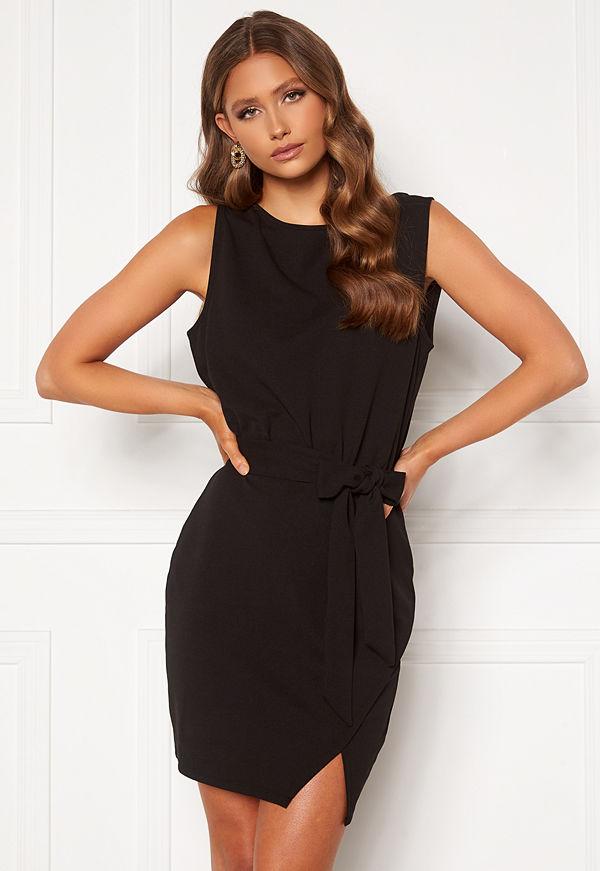 Bubbleroom Lorna short sleeve dress Black