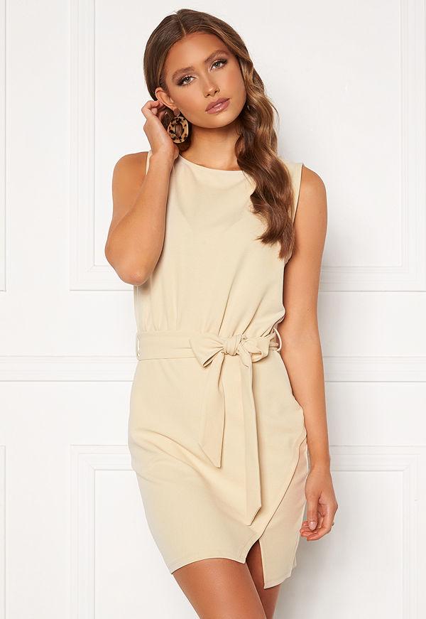 Bubbleroom Lorna short sleeve dress Beige