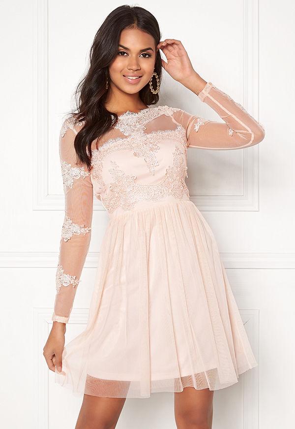Vila Georgious L/S Dress Peach Blush