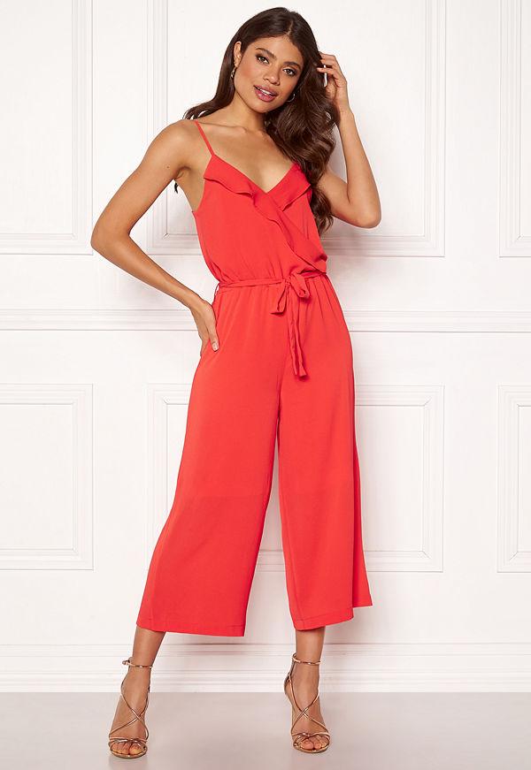 Object Tribbiani S/L Jumpsuit Poppy Red