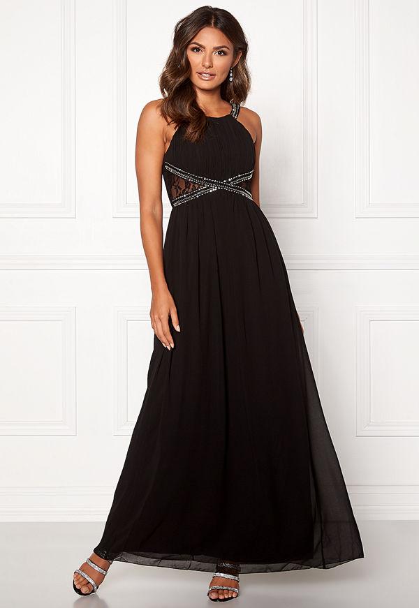 Little Mistress Eve Empire Dress Black
