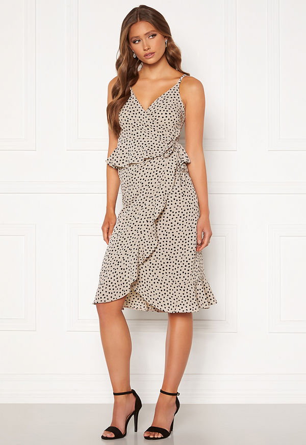 Bubbleroom Analisa dress Beige / Black / Dotted