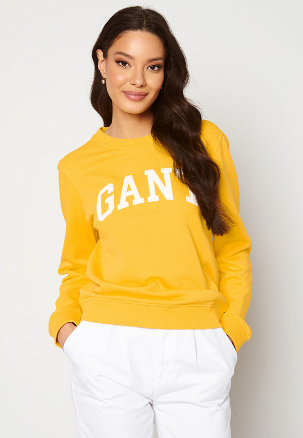 Gant Arch Logo C-Neck Sweat 728 Solar Power Yell