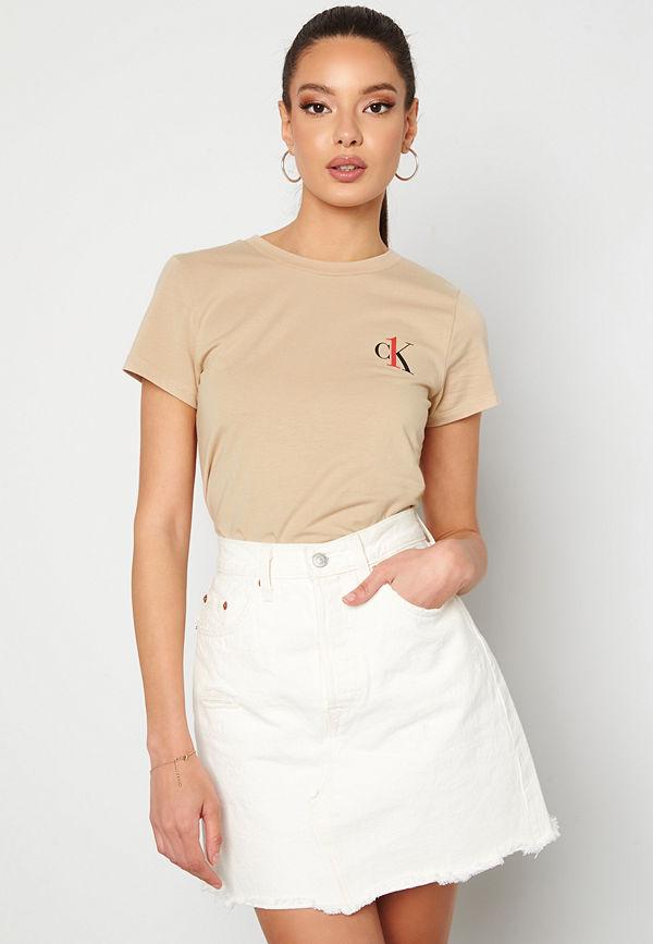 Calvin Klein S/S Crew Neck 0XG Charming Khaki