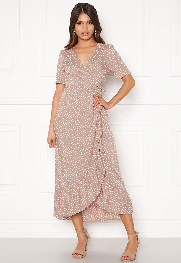 Happy Holly Evie wrap dress Dusty pink / Offwhite