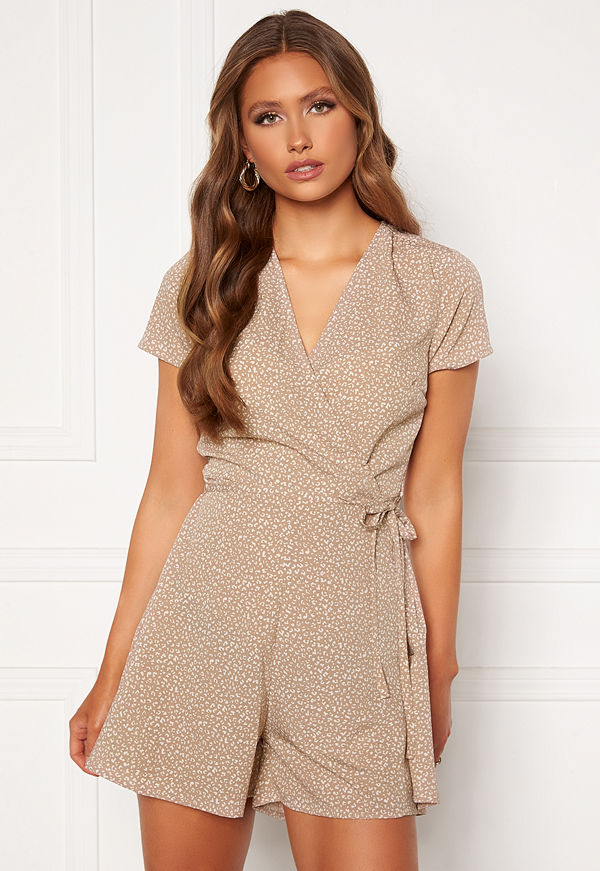 Bubbleroom Janelle playsuit Beige / Brown / Leopard