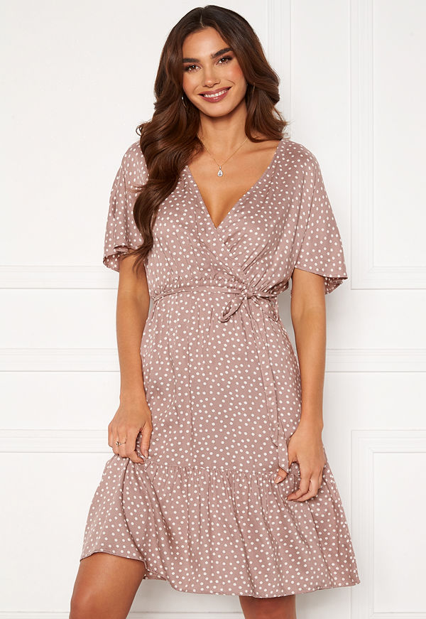 Happy Holly Olivia dress Dusty pink / Offwhite
