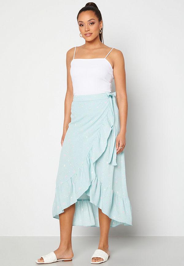 Y.a.s Yvonne HW Long Wrap Skirt Star White Yvonne Pr