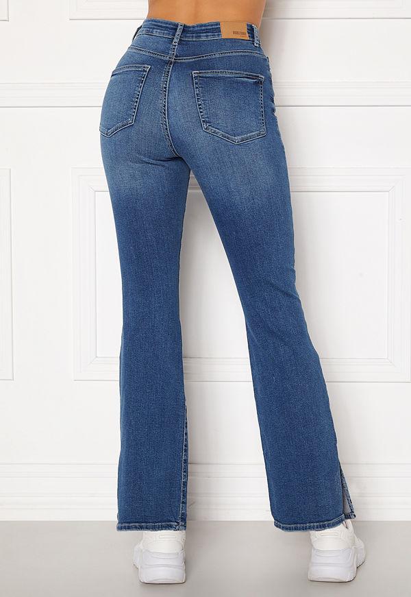 Bubbleroom Wendy side slit jeans Medium denim