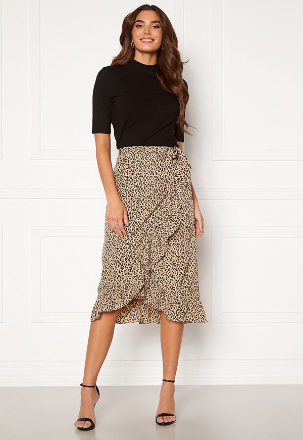 Vero Moda Henna Wrap Blk Skirt Nomad Aop: Loula