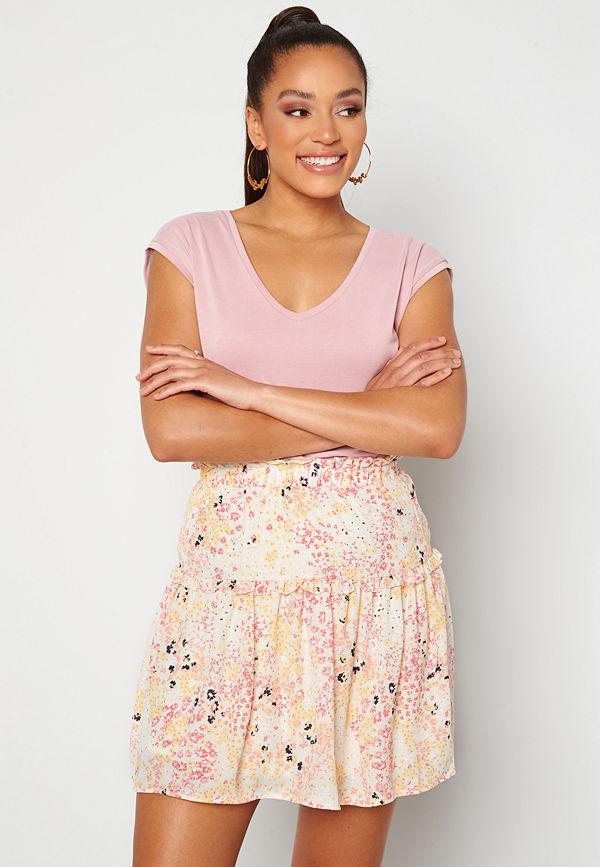 Vero Moda Hannah Foil Short Skirt Birch