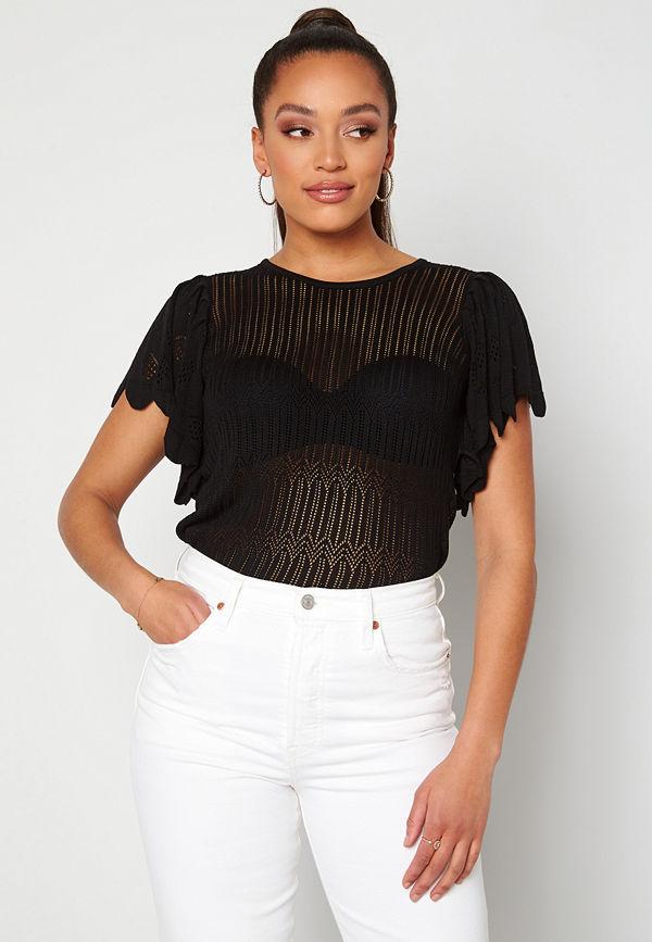Jdy Solis S/S Pullover Black