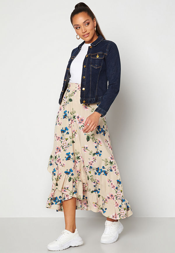 Object Paree Maxi Skirt Sandshell / Flower