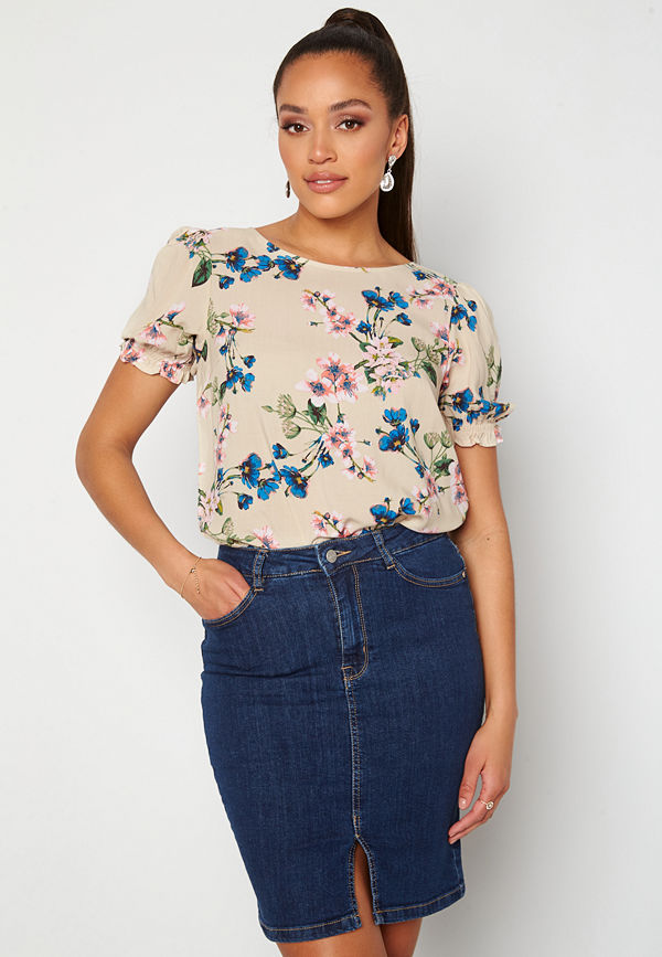 Object Paree S/S Top Sandshell / Flower