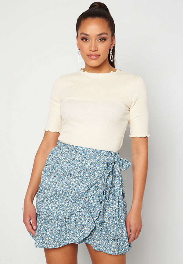 Only Olivia Wrap Skirt Dusk Blue/ Flower