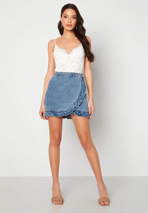 Only Luna Life Denim Skirt Medium Blue Denim