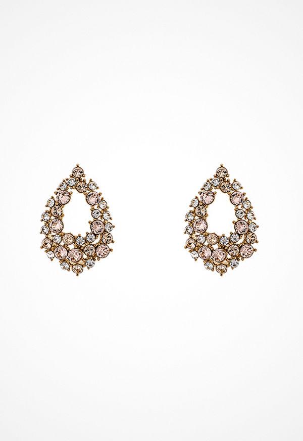 Lily and Rose örhängen Petite Earrings Silk/pink/gold
