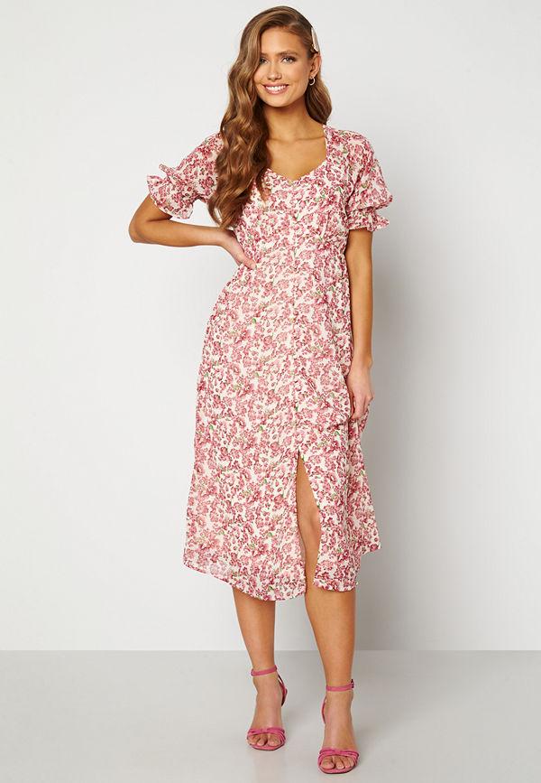Vero Moda Anneline 2/4 V-Neck Dress Birch AOP: New Annel