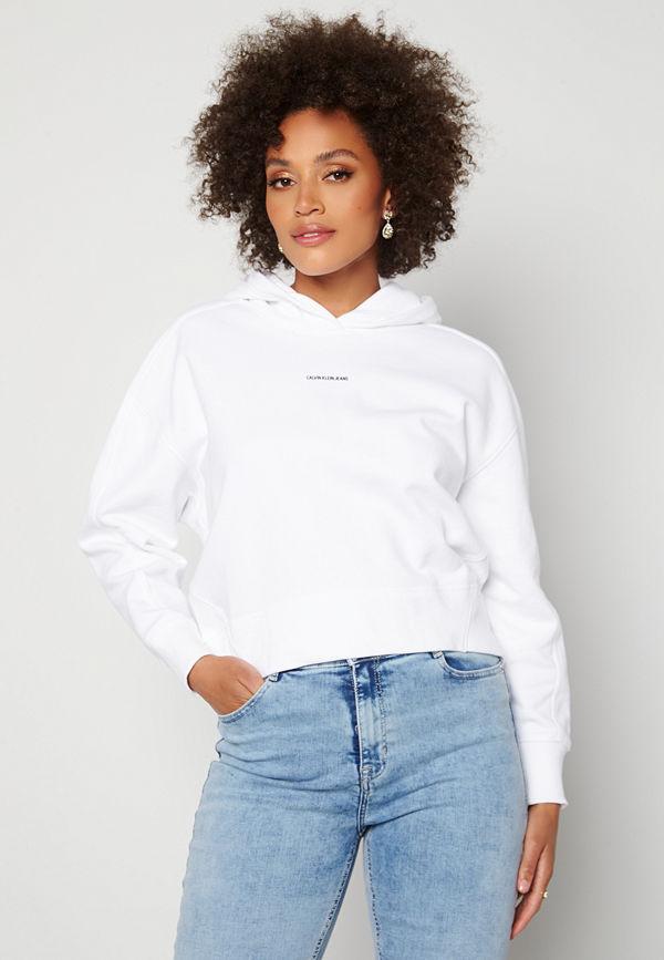 Calvin Klein Jeans Micro Branding Hoodie YAF Bright White