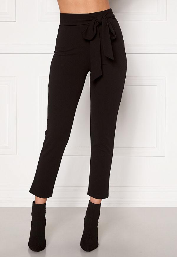 Bubbleroom svarta byxor Dilara straight leg trousers Black