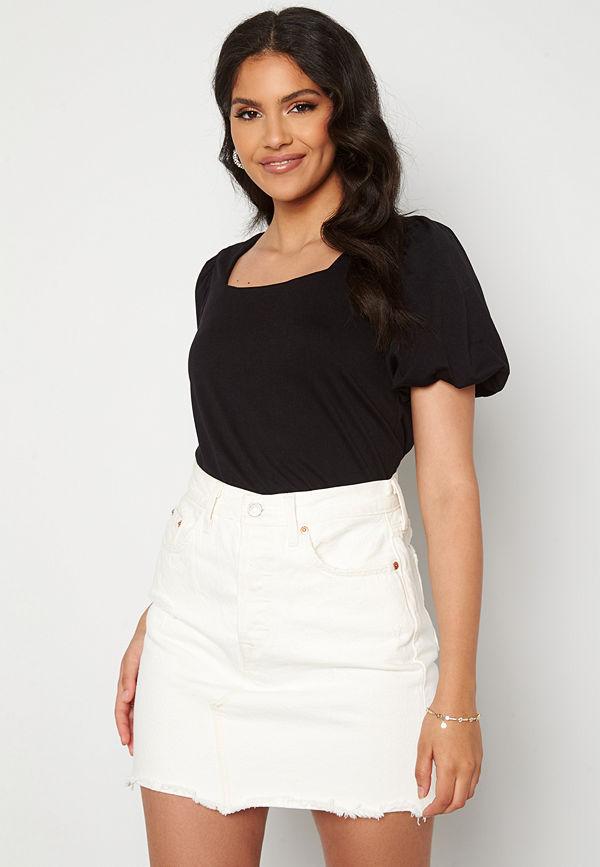 Jacqueline de Yong Dicte Puff Sleeve Top Black