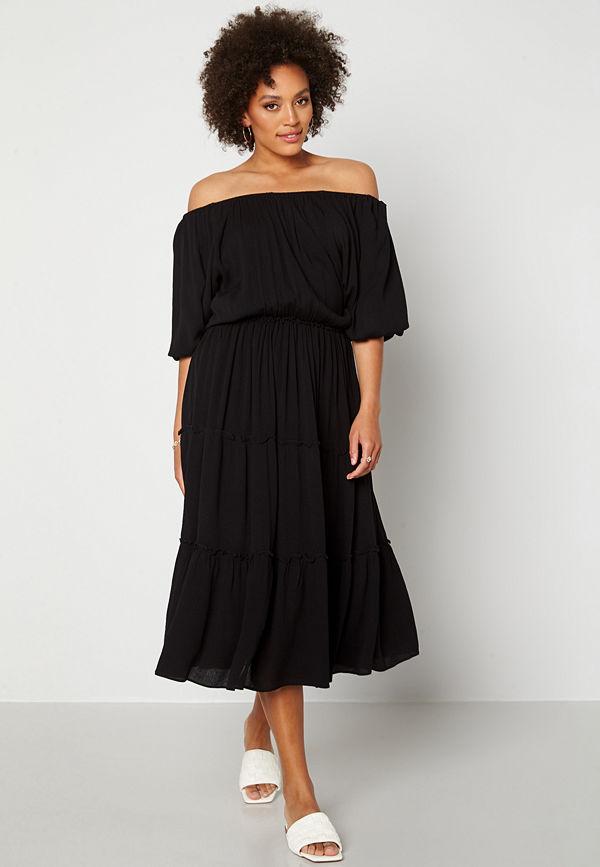 Selected Femme Minora-Vienna 2/4 Midi Dress Black