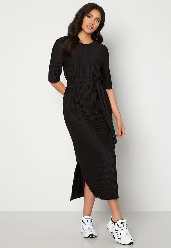 Selected Femme Terle 2/4 Midi Plisse Dress Black