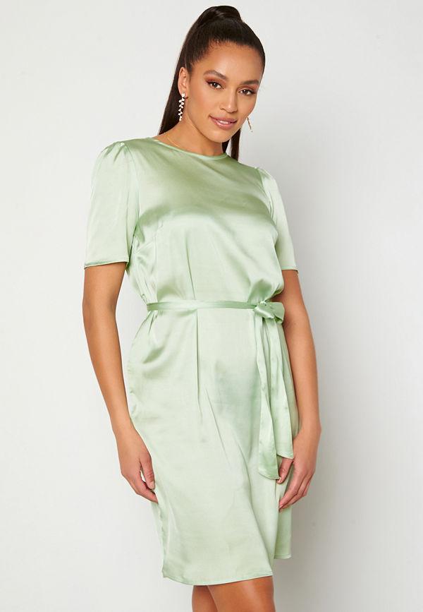 Alexandra Nilsson X Bubbleroom Satin T-shirt Dress Mint green