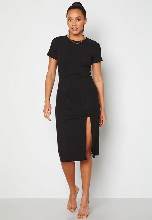 Alexandra Nilsson X Bubbleroom Slit Dress Black