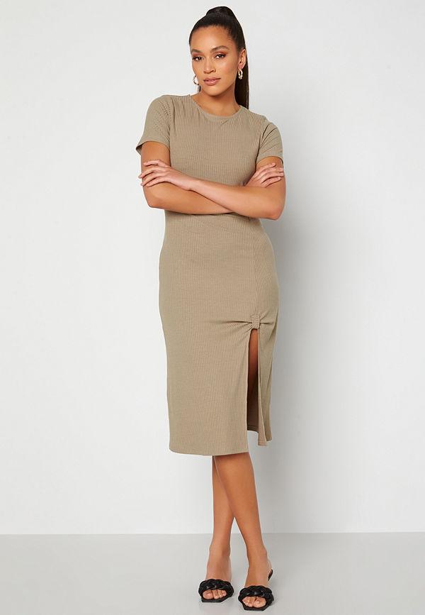 Alexandra Nilsson X Bubbleroom Slit Dress Brown