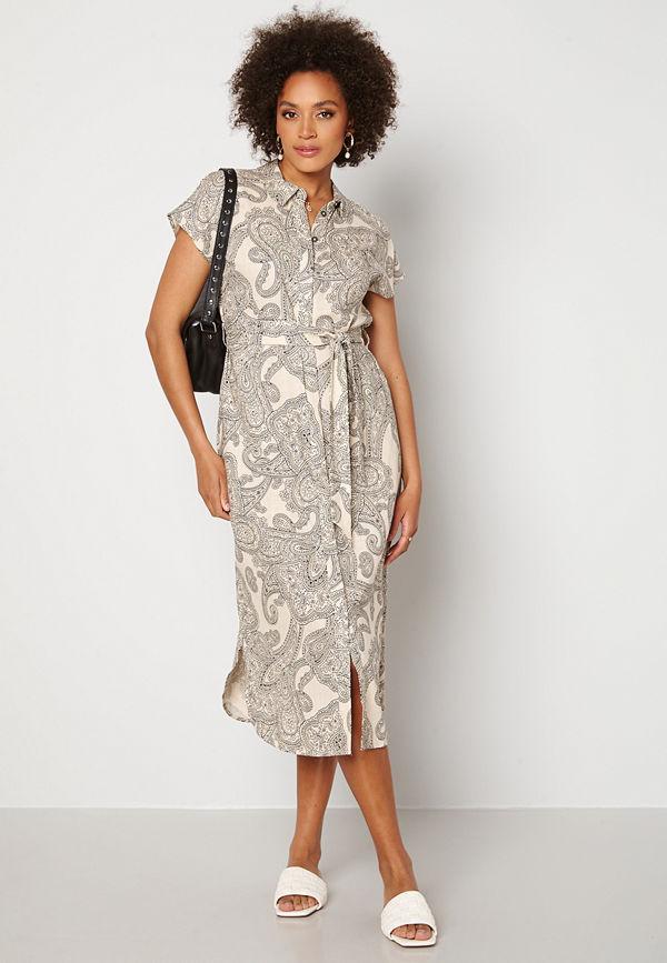 Object Adilla S/S Dress Sandshell AOP