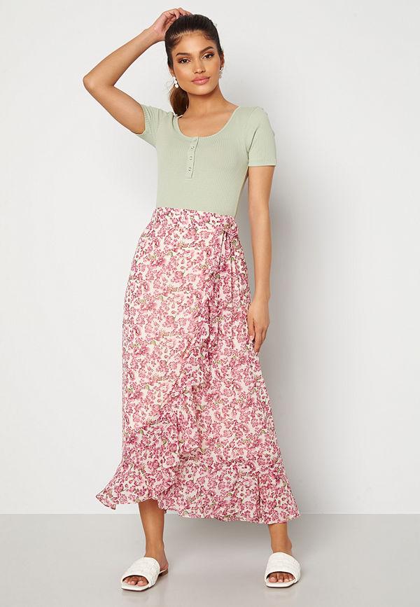 Vero Moda Anneline Wrap Skirt Birch AOP: New Annel