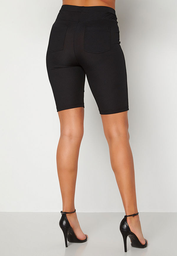 Alexandra Nilsson X Bubbleroom Biker rib shorts Black