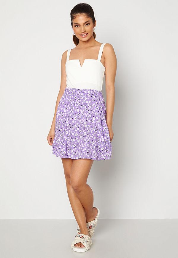 Trendyol Flower Flounce Skirt Lila