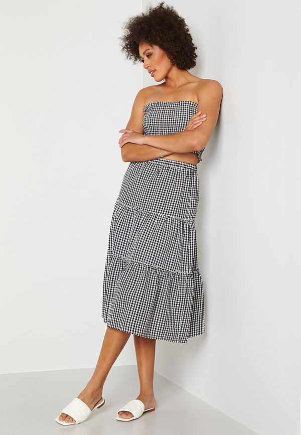 Trendyol Smock Top Skirt Set Siyah/Black