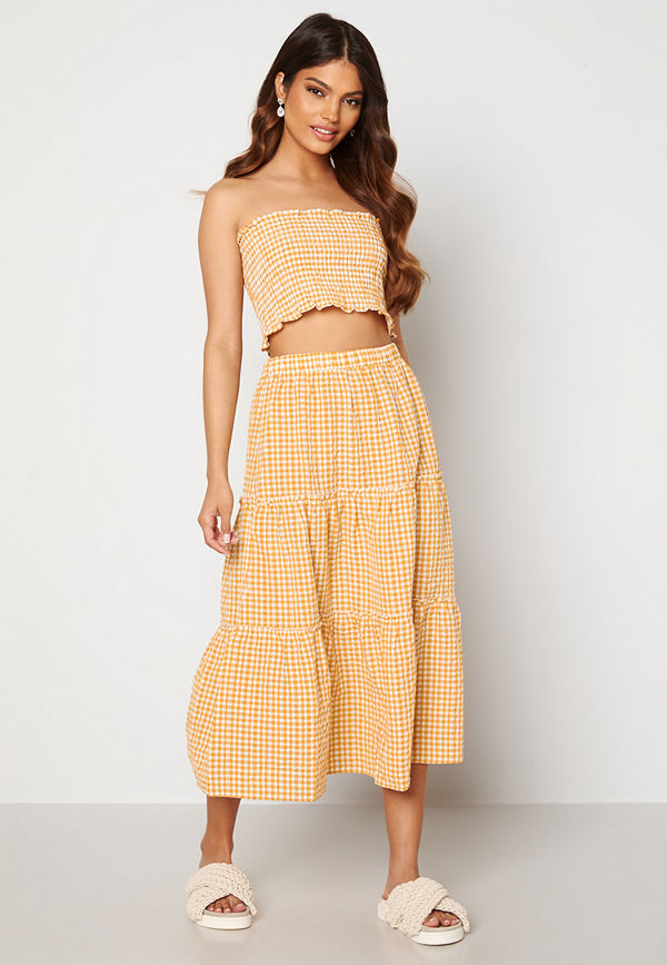 Trendyol Smock Top Skirt Set Sari/Yellow
