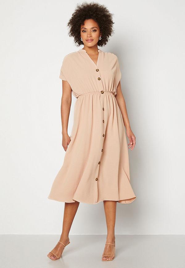 Trendyol Button Shirt Dress Tas/Stone