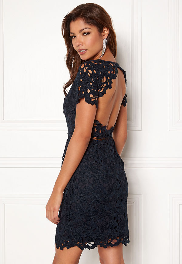 Chiara Forthi Felizia Lace Dress Navy