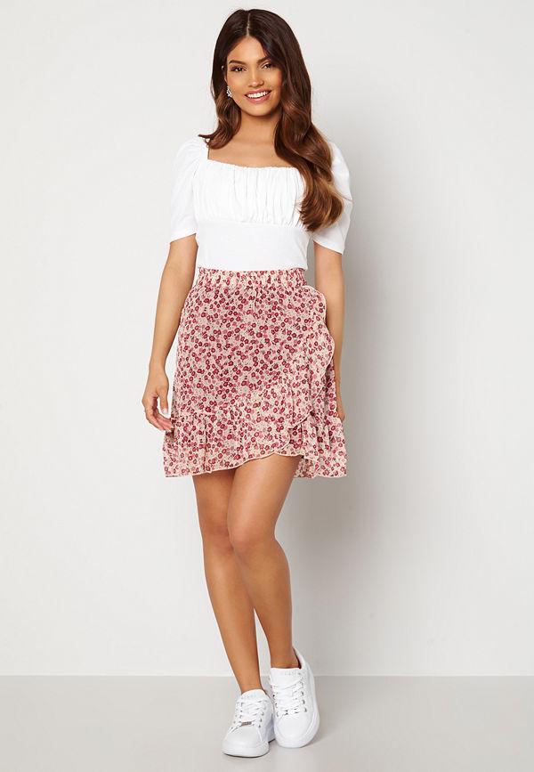Jdy Jennifer Life Mini Skirt Cloud Dancer/ Flower