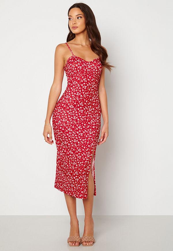 Bubbleroom Izabelle midi dress Red / Floral