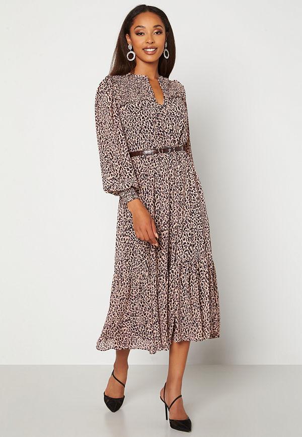 Forever New Tammy Tiered Midi Dress Ribena Brushed Spot