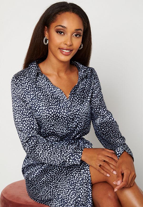Vero Moda Leona Calf Shirt Dress Navy Blazer