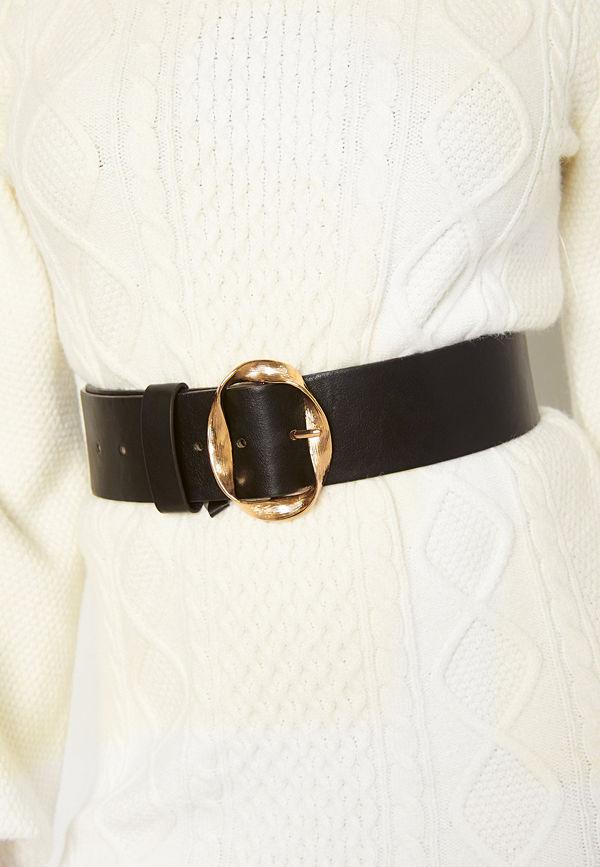 Bubbleroom Talia belt Black / Gold