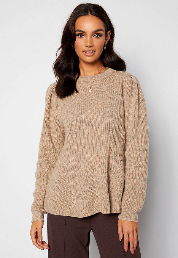 Only Stacy L/S O-Neck Pullover Pumice Stone Det. Me