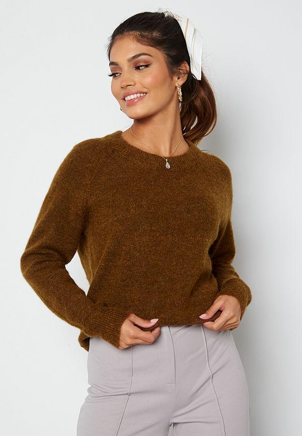 Selected Femme Lulu LS Knit O-Neck Rubber