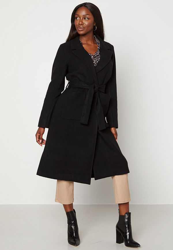 Happy Holly Claire Coat Black