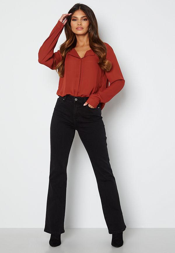 Vero Moda Saga HR S Flared Jeans Black